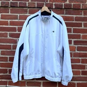 Mens White Champion Windbreaker Vintage